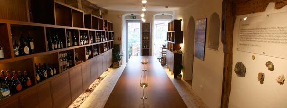 A view into our tasting-room